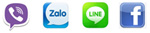 Chat viber, zalo, line, facebook with us