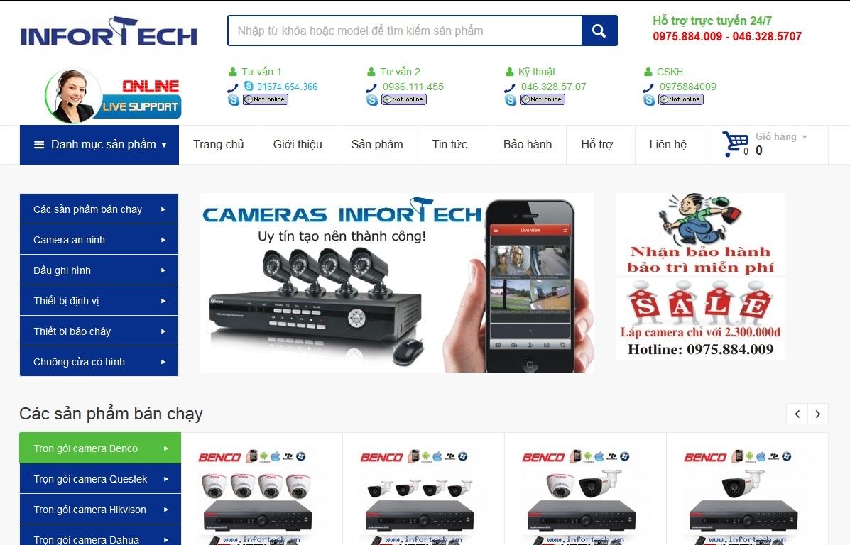 Mẫu web bán camera online