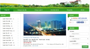 Thiết kế web bán chung cư và dự án bất động sản