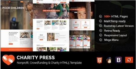 CharityPress - Nonprofit, Crowdfunding & Charity