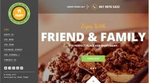 Mẫu thiết kế web cho nhà hàng, quán ăn