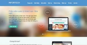 Mẫu thiết kế web giới thiệu sản phẩm dịch vụ công ty