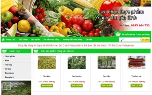 Web bán nông sản xanh