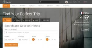 Traveler -  Mẫu website du lịch