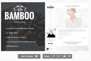 Bamboo - Elegant, Simple HTML5 Blog