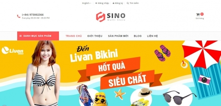 Mẫu thiết kế web bán hàng 08