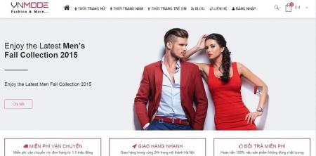 Mẫu web bán hàng cho shop thời trang
