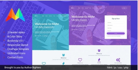 Mehr - Startup Landing