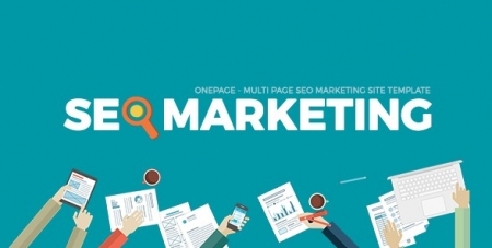 SEOMarkt | Responsive Flat SEO Marketing Onepage Multipage