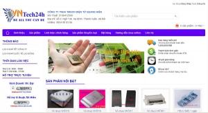 Mẫu web bán buôn bán lẻ linh kiện điện tử