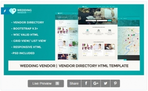 Wedding Vendor | Vendor Directory HTML Template