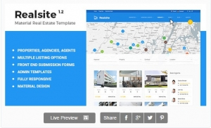 Material Real Estate Template