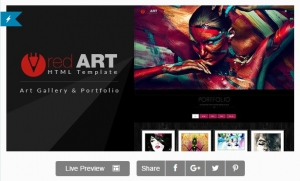 Red Art - HTML Portfolio / Art Gallery Website
