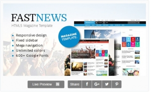 FastNews — Responsive Magazine Template