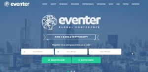 Eventer - Event and Conference Landing Page