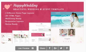 HappyWedding - Beautiful Wedding & Event Template
