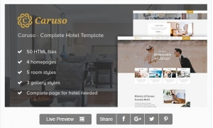 Caruso - Complete Hotel Booking Template