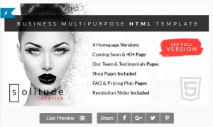 Solitude Business Multipurpose HTML Template