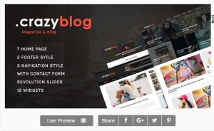 CrazyBlog - Blog HTML Template for Ads Businesses