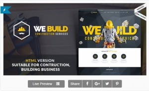 We Build - Construction, Building HTML Template