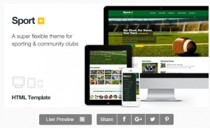 Sport - Sporting Club Template