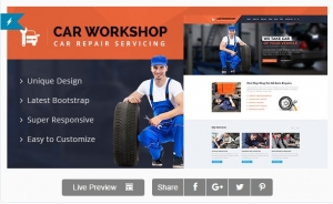 Car Workshop - Car Service & Repairs Workshop Template