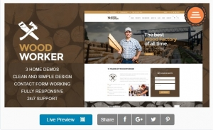 WoodWorker - Carpentry HTML Theme