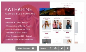 Katharine - Modern Fashion Blog Template