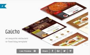 Gaucho - Food & Restaurant HTML Template