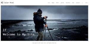 Photography HTML5 Website Template - SolarWind