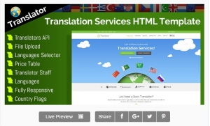 Translator - HTML Website Template For Language Translation Services