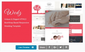 Wedz - Responsive HTML5 Wedding Template
