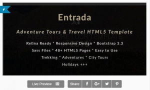 Adventure Tours and Travel HTML Template - Entrada