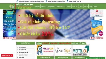 Thiết kế web bán chữ ký số, dịch vụ chữ  ký điện tử, bảo hiểm điện tử