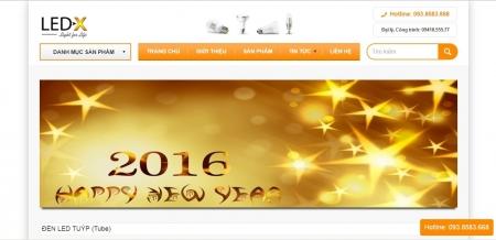 Thiết kế web bán hàng đèn led - điện tử công nghệ