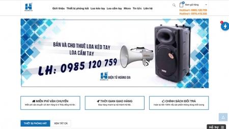 Thiết kế web bán loa kéo tay , đồ điện tử cho thuê