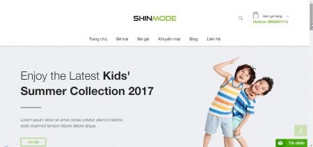 Thiết kế web shop thời trang nhí