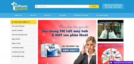 Thiết kế web thực phẩm chức năng dược phẩm mỹ phẩm