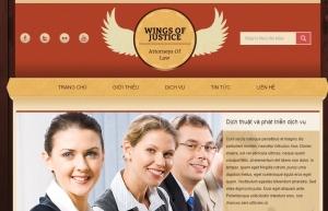 Mẫu thiết kế web cho công ty luật