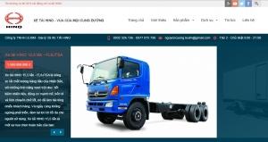 Mẫu website bán ôtô, xe tải