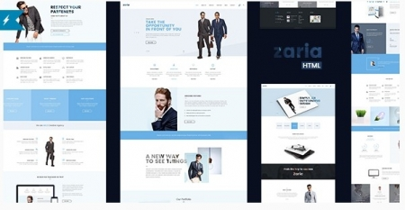 Zaria – Business Constulting HTML5 & CSS3 Template