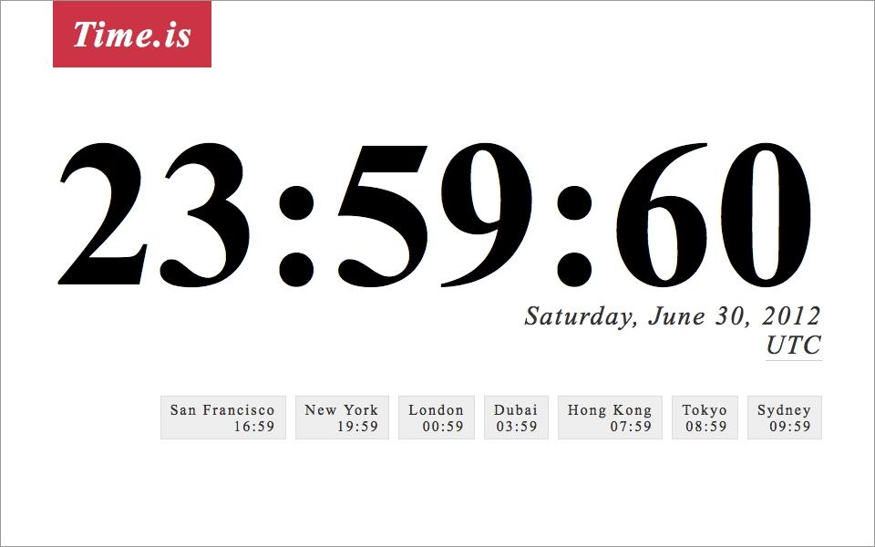Internet năm 2015 có thể gặp sự cố chỉ vì 1 giây đồng hồ