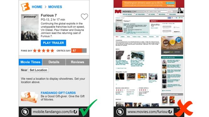 Công cụ tìm kiếm của Microsoft - Bing ưu tiên các website thân thiện di động