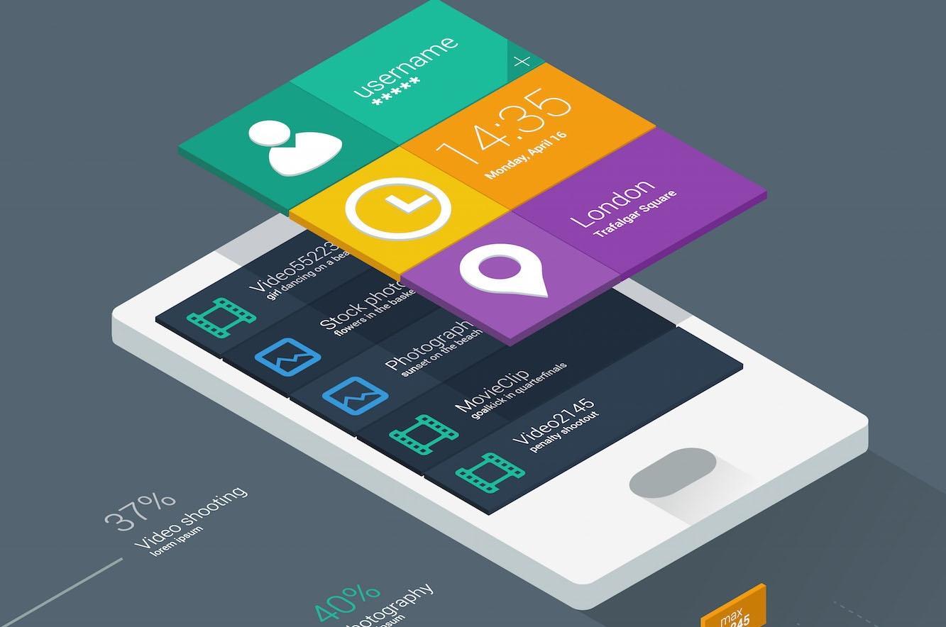 Thiết kế giao diện phẳng - hiện tại và tương lai