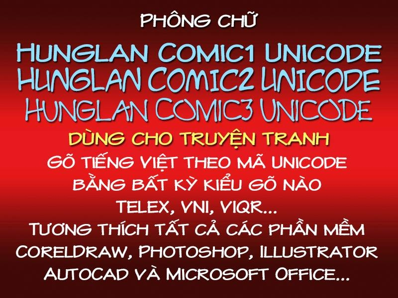 Chia sẻ bộ font chuyên dùng làm lời thoại cho truyện tranh của anh Lân Hùng