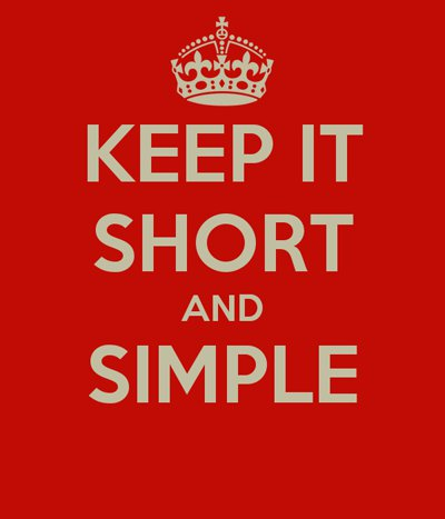 keep-it-short-and-simple