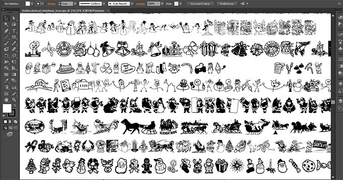600 icon giáng sinh dạng vector