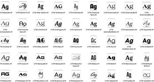 Chia sẻ bộ font UTM việt hoá