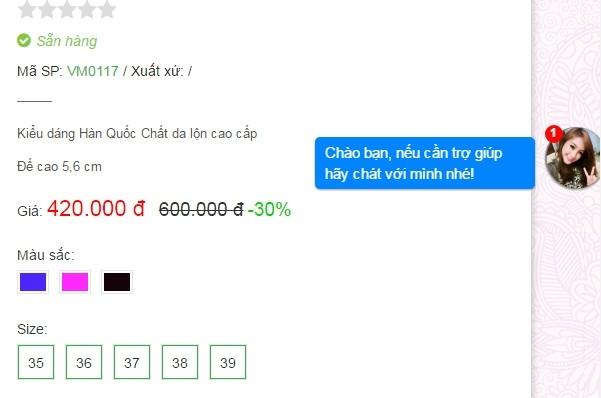 Code tích hợp Live Chat Facebook cho web trên máy tính và mobile