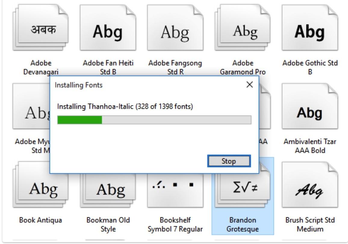 Download bộ 1524 Font chữ tiếng Việt đầy đủ cho Windows 2021